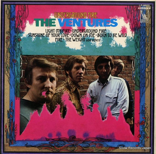 VENTURES, THE underground fire LP-8600 - front cover