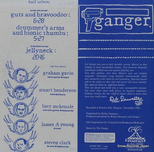 GANGER half nelson ep POMP004 - back cover