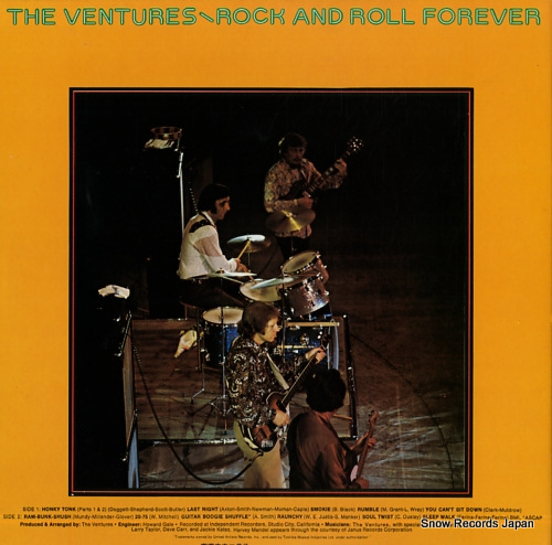 VENTURES, THE rock and roll forever LLP-80637 - back cover