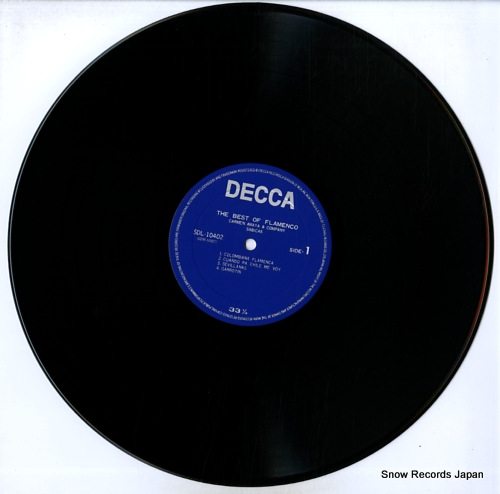 AMAYA, CARMEN, AND SABICAS the best of flamenco SDL-10402 - disc