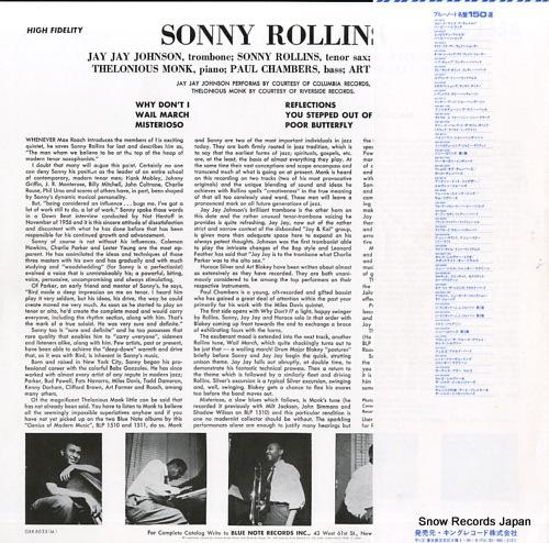 ROLLINS, SONNY vol.2 GXK8035(M) - back cover