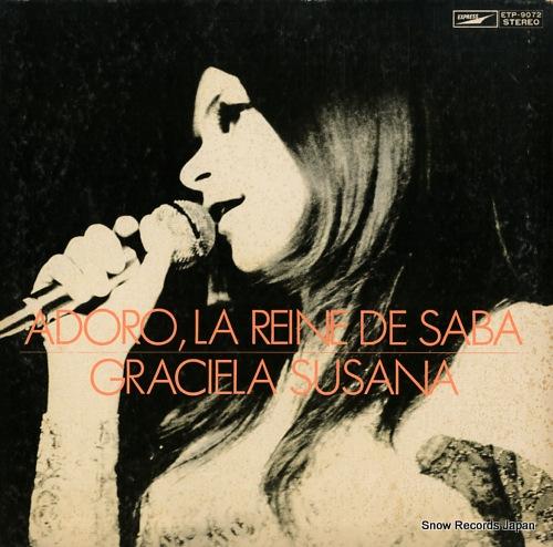 SUSANA, GRACIELA adoro, la reine de saba ETP-9072 - front cover