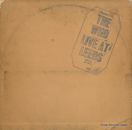 WHO, THE live at leeds DL79175 - front cover