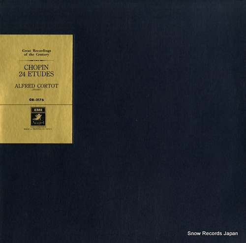 CORTOT, ALFRED chopin; 24 etudes GR-2176 - front cover