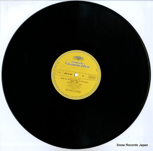 KARAJAN, HERBERT VON bach; suite for orchestra no.2 in b minor MG2169 - disc