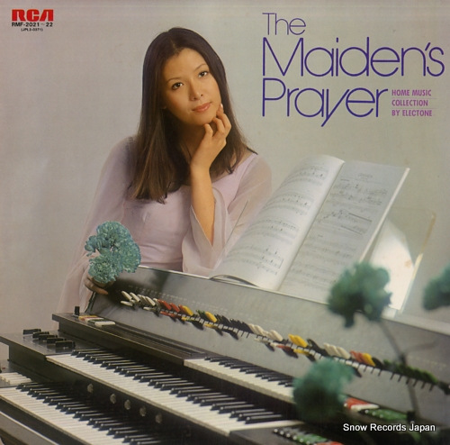 SAITO, HIDEMI the maiden's player / home music collection by electone RMF-2021-22 - front cover