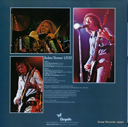 TROWER, ROBIN robin trower live! WWS-40202 - back cover