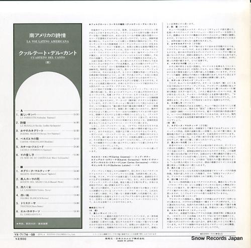 CUARTETO DEL CANTO la voz latino americana YX-7174-GB - back cover