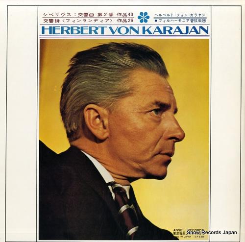 KARAJAN, HERBERT VON sibelius; symphony no.2 in d major / symphonic poem 'finlandia' AA-8309 - back cover