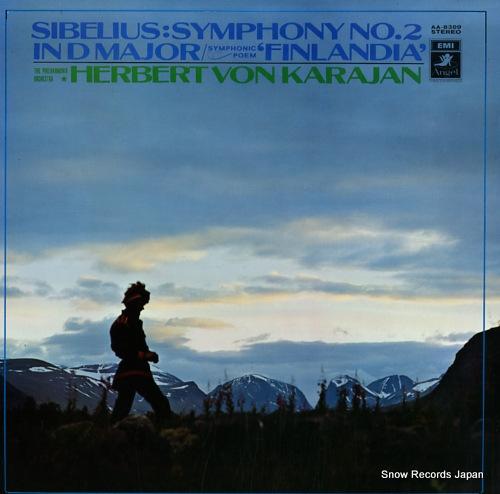 KARAJAN, HERBERT VON sibelius; symphony no.2 in d major / symphonic poem 'finlandia' AA-8309 - front cover