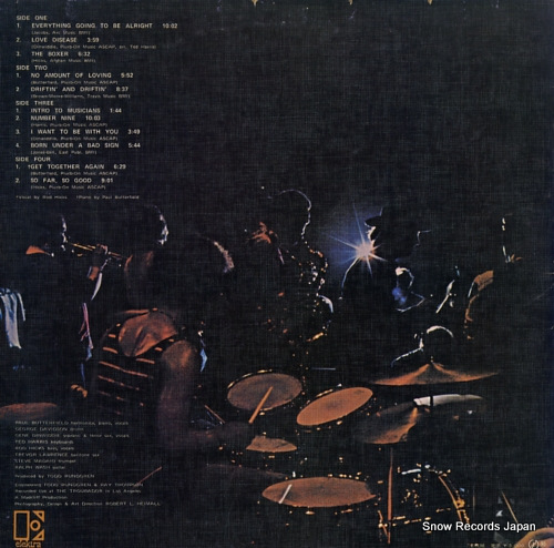 BUTTERFIELD BLUES BAND, THE live SJET-9501-2 - back cover