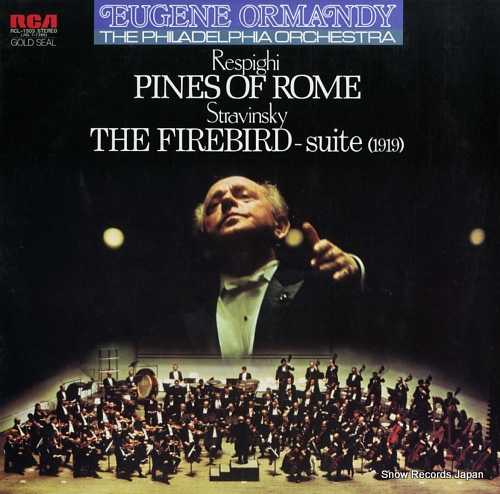 ORMANDY, EUGENE respighi; pines of rome RCL-1503 - front cover