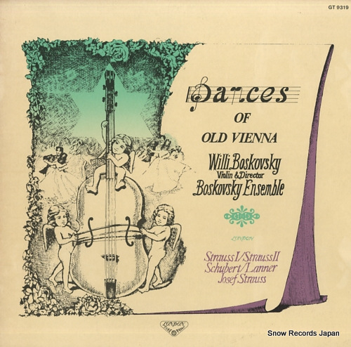 BOSKOVSKY, WILLI dances of old vienna GT9319 - front cover