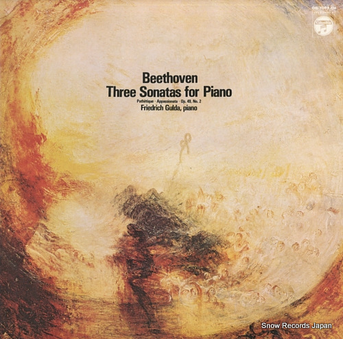 GULDA, FRIEDRICH beethoven; three sonatas for piano OQ-7099-CH - front cover