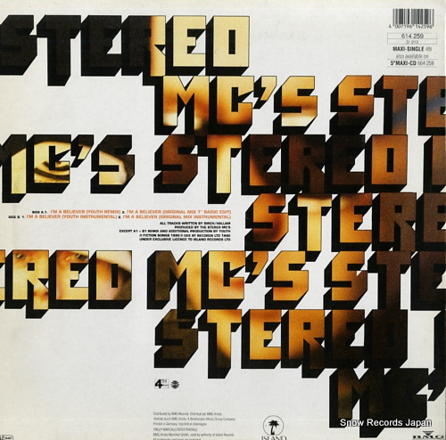 STEREO MC'S i'm a believer 614259 - back cover