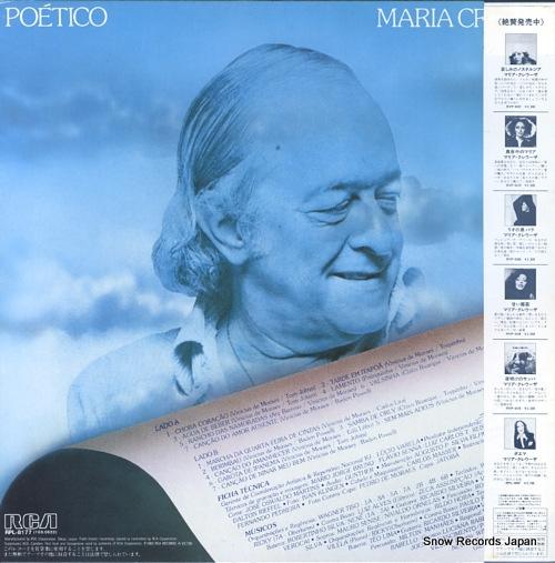 CREUZA, MARIA poetico RPL-8177 - back cover