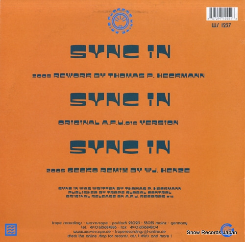 SILENT BREED sync in 2005 remixes WS1237 - back cover
