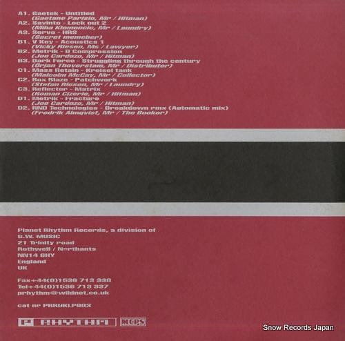 V/A it's a family affair PRRUKLP003 - back cover