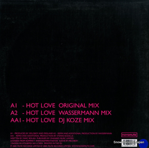 MELOBOY hot love 12NOMU143 - back cover