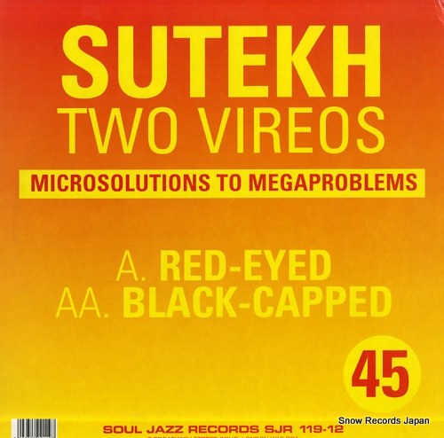SUTEKH two vireos SJR119-12 - back cover
