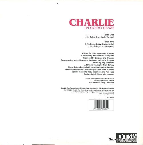 CHARLIE i'm going crazy DT002T - back cover