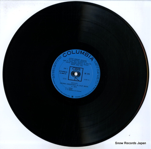 ORMANDY, EUGENE mozart; sinfonia concertante in e-flat major, k.297b OS-244 - disc