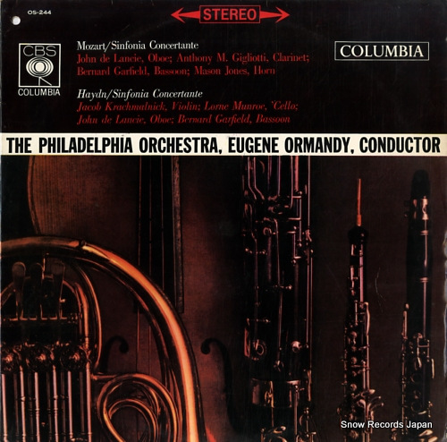 ORMANDY, EUGENE mozart; sinfonia concertante in e-flat major, k.297b OS-244 - front cover