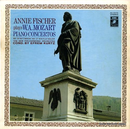 FISCHER, ANNIE mozart; piano concerto no.24 in c minor, k.491 AA-8375 - front cover