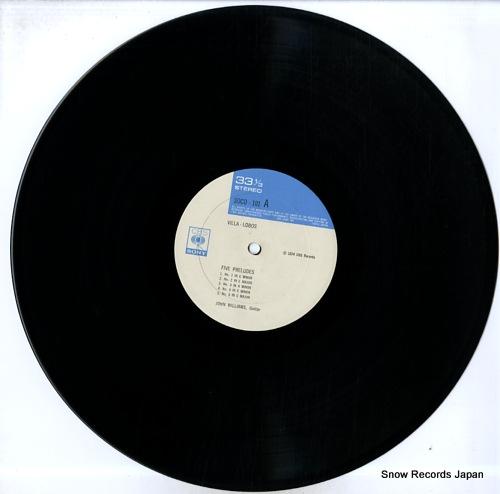 WILLIAMS, JOHN villa-lobos; five preludes SOCO101 - disc