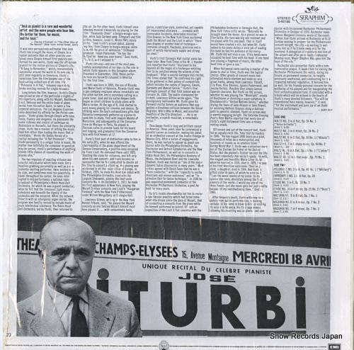 ITURBI, JOSE iturbi plays favorite chopin S-60186 - back cover