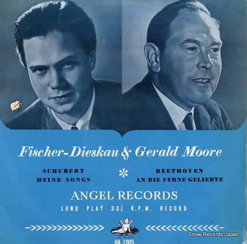 FISCHER-DIESKAU, DIETRICH schubert; heine songs HA1005 - front cover