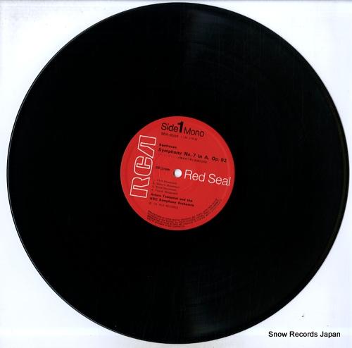 TOSCANINI, ARTURO beethoven; symphony no.7 in a major, op.92 SRA-8009 - disc