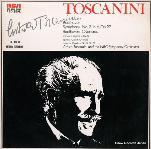 TOSCANINI, ARTURO beethoven; symphony no.7 in a major, op.92 SRA-8009 - front cover