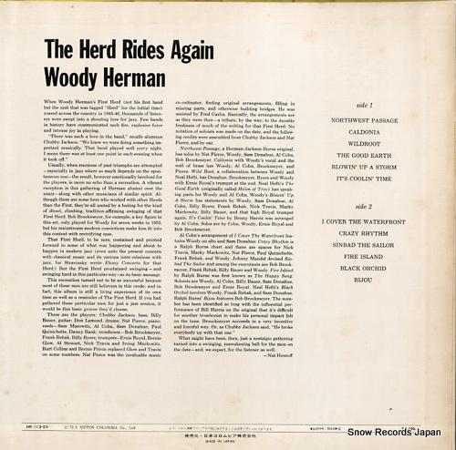 HERMAN, WOODY the herd rides again HR-113-EV - back cover