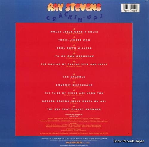 STEVENS, RAY crackin' up MCA-42020 - back cover