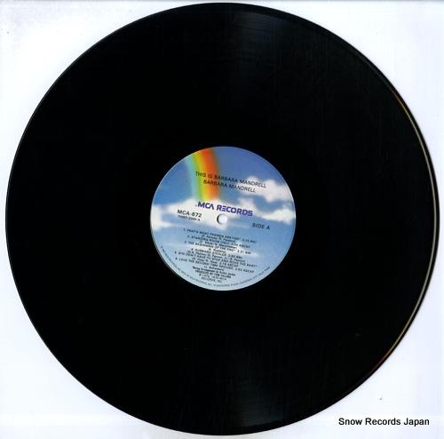 MANDRELL, BARBARA this is barbara mandrell MCA-672 - disc