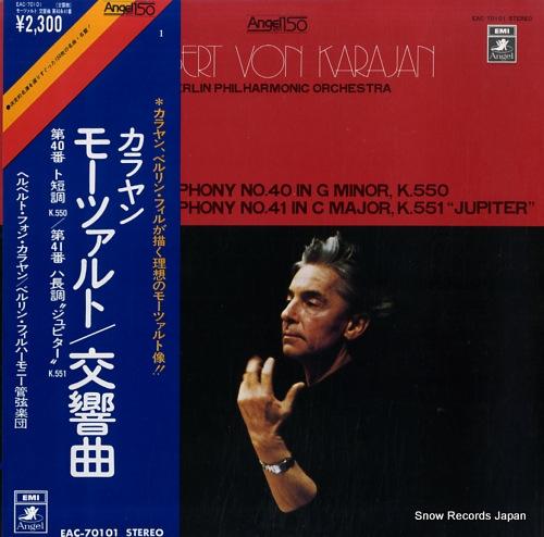KARAJAN, HERBERT VON mozart; symphony no.40 in g minor, k.550 EAC-70101 - front cover