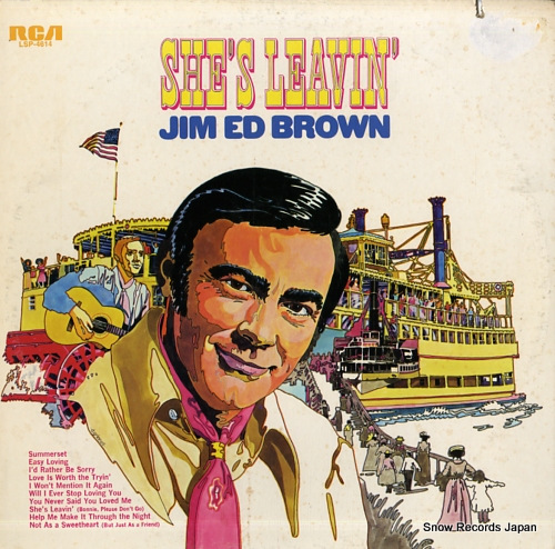 BROWN, JIM ED she's leavin' LSP-4614 - front cover