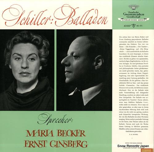 V/A friedrich schiller; balladen 43007LPMS - back cover