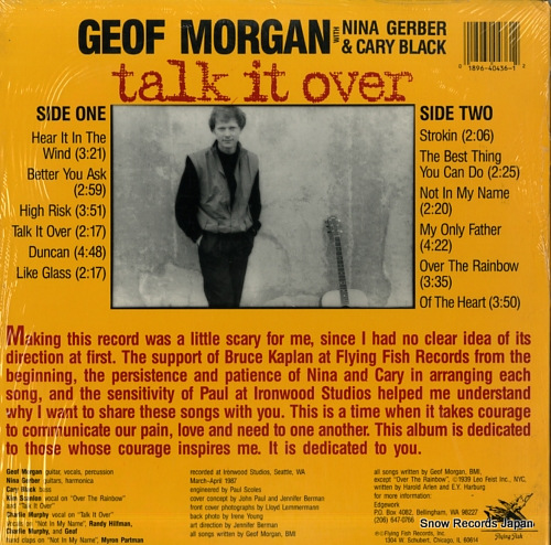 MORGAN, GEOF talk it over FF436 - back cover