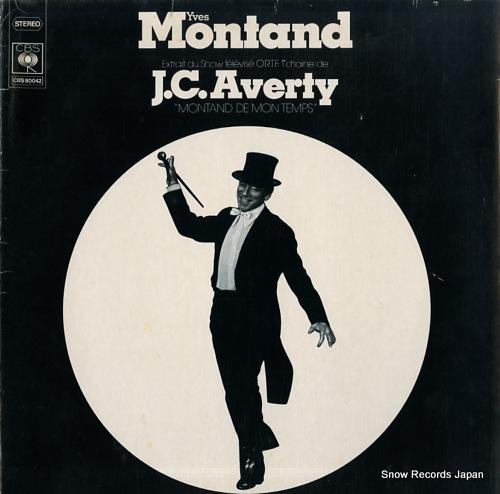 MONTAND, YVES montand de mon temps CBS80042 - front cover