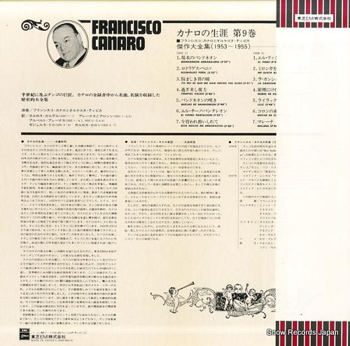 CANARO, FRANCISCO la vida de f. canaro vol.9 EOS-40019 - back cover