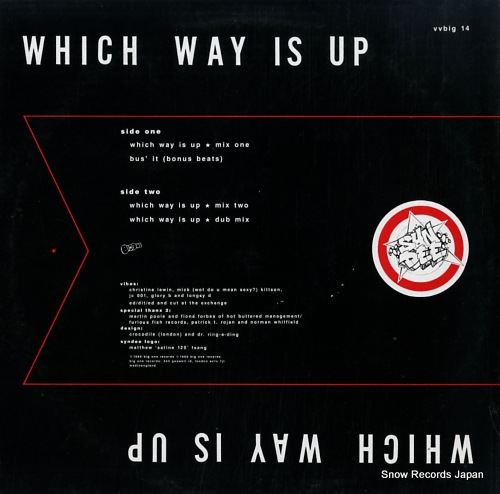 SYNDEE which way is up VVBIG14 - back cover