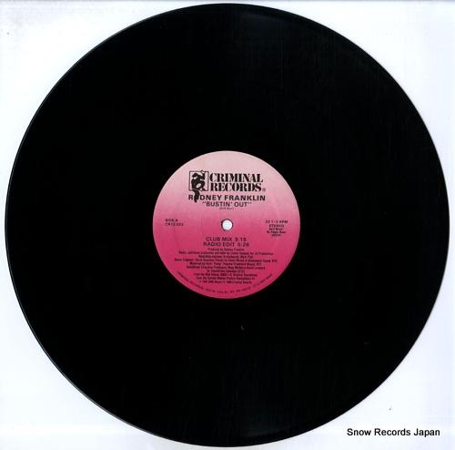 FRANKLIN, RODNEY bustin' out CR12023 - disc