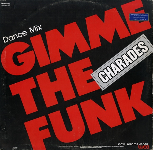 CHARADES gimme the funk (dance mix) 24-9652-0 - back cover