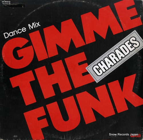 CHARADES gimme the funk (dance mix) 24-9652-0 - front cover