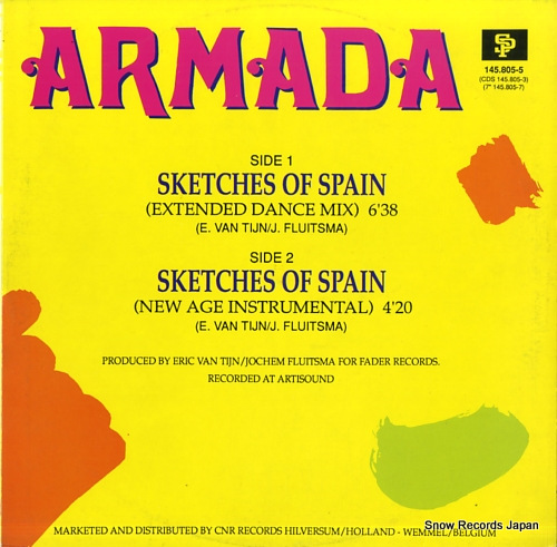 ARMADA sketches of spain 145.805-5 - back cover