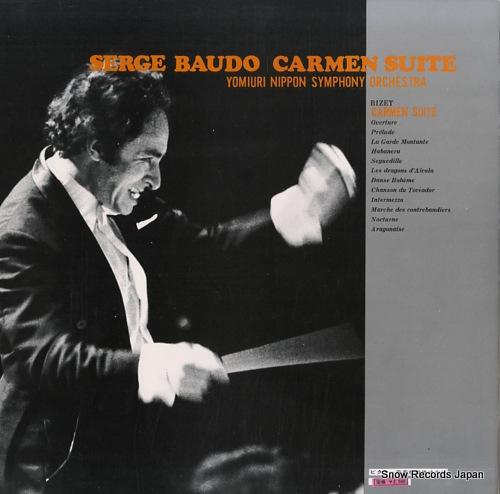BAUDO, SERGE bizet; carmen suite CD4K-7501 - back cover