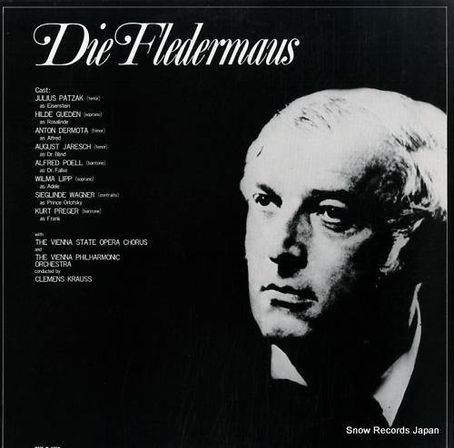 KRAUSS, CLEMENS strauss; die fledermaus SL1153/4M - back cover