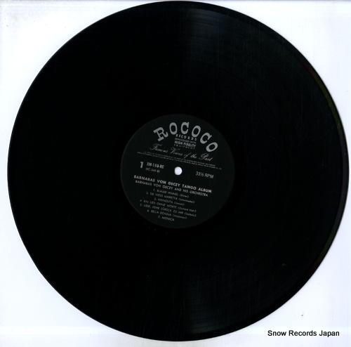 GECZY, BARNABAS VON barnabas von geczy tango album XM-188-RC - disc